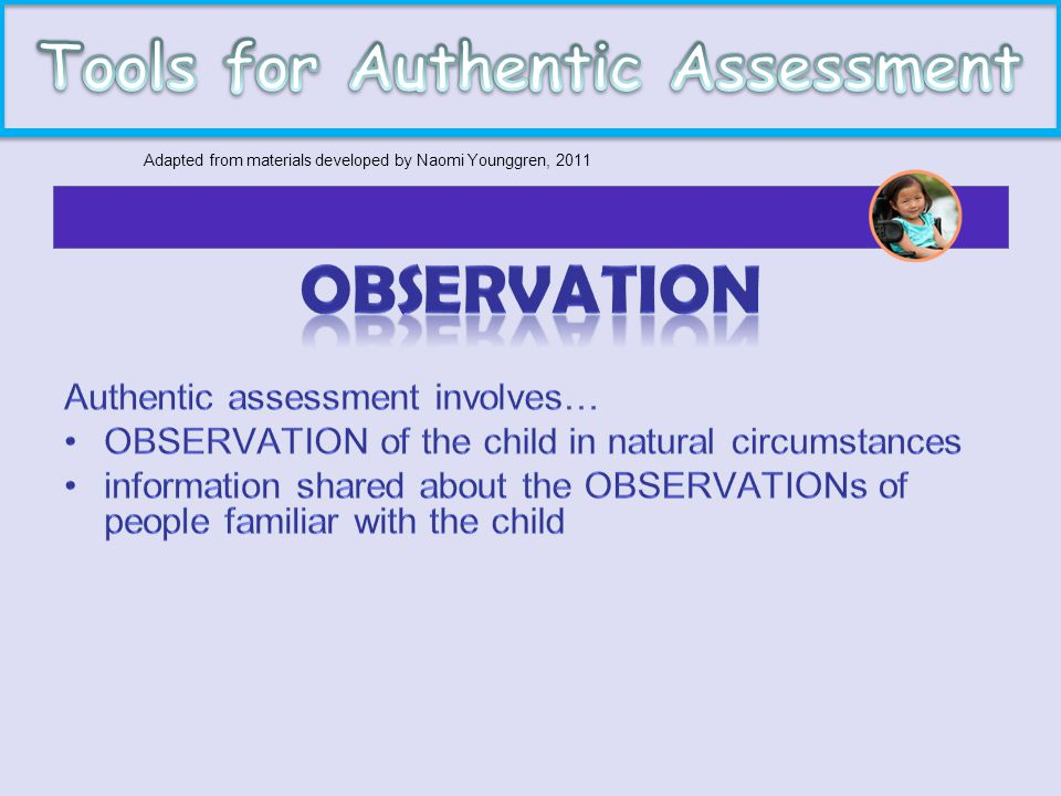 Tools for Authentic Assessment