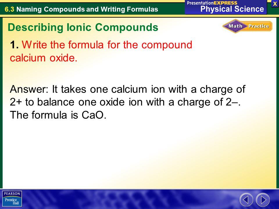 Describing Ionic Compounds