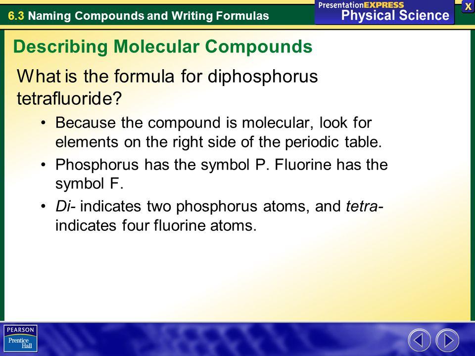 Describing Molecular Compounds