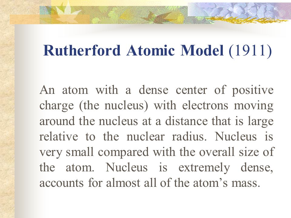 Rutherford Atomic Model (1911)