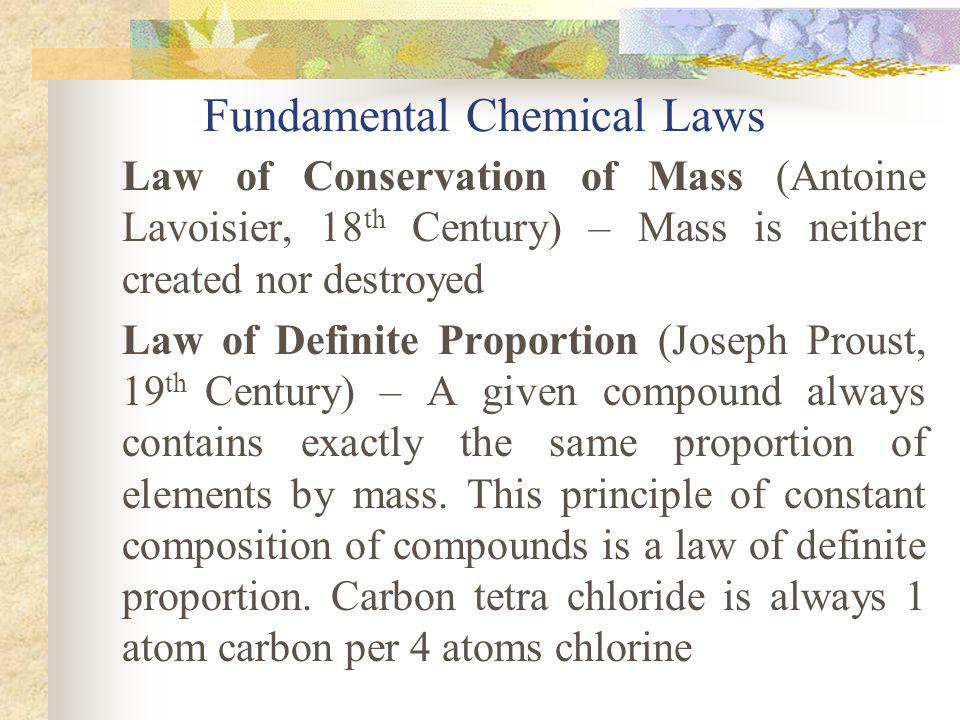 Fundamental Chemical Laws
