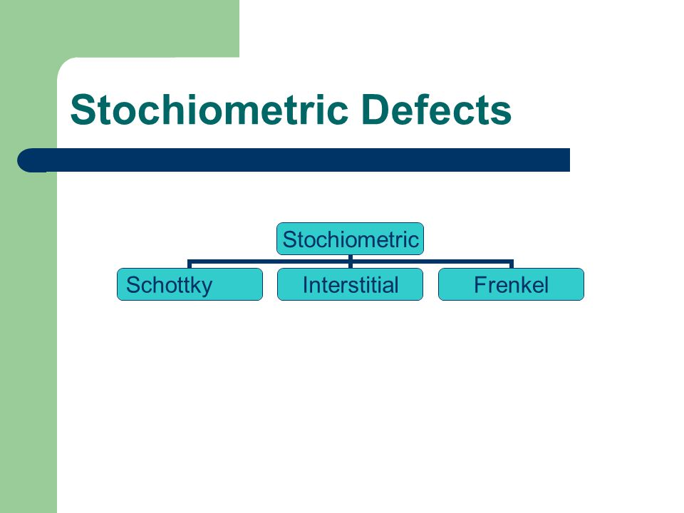 Stochiometric Defects