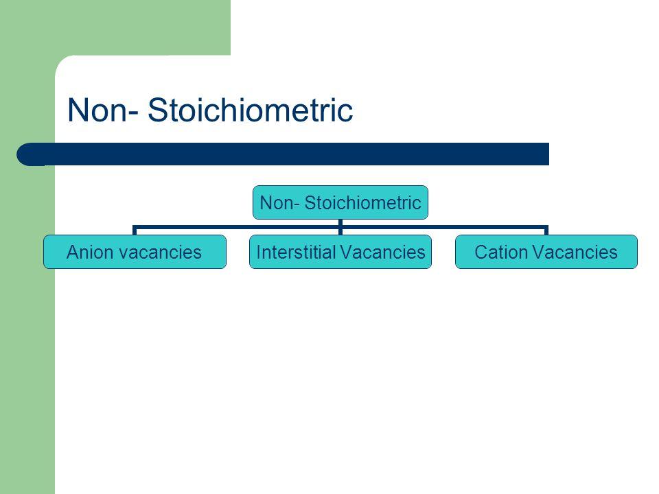 Non- Stoichiometric