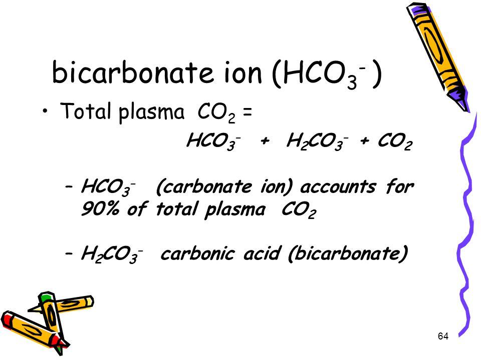 bicarbonate ion (HCO3- )