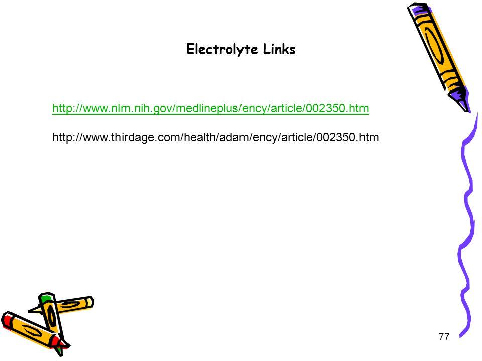 Electrolyte Links http://www.nlm.nih.gov/medlineplus/ency/article/002350.htm.