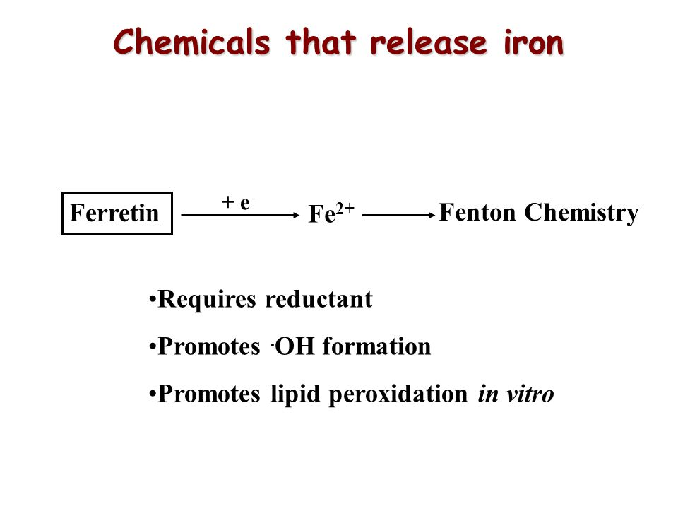Chemicals that release iron