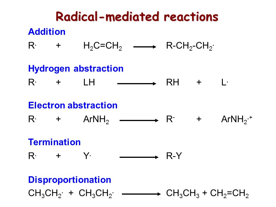 Radical-mediated reactions