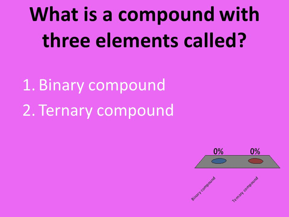 What is a compound with three elements called