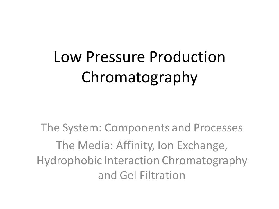 Low Pressure Production Chromatography