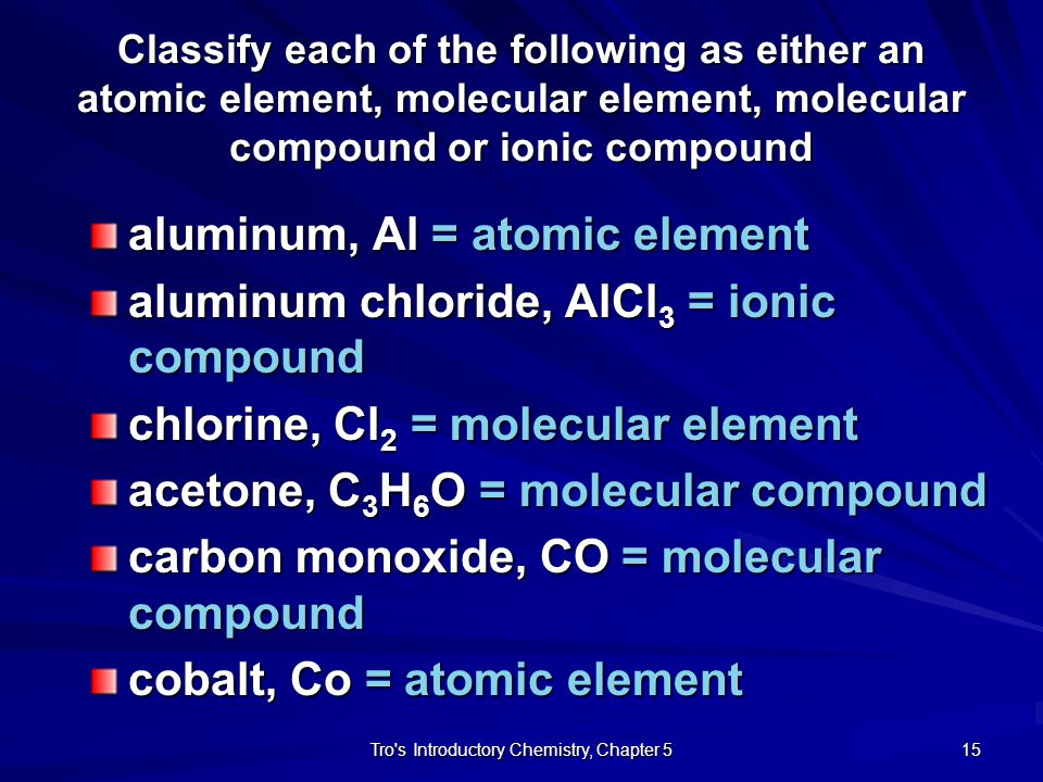 Tro s Introductory Chemistry, Chapter 5