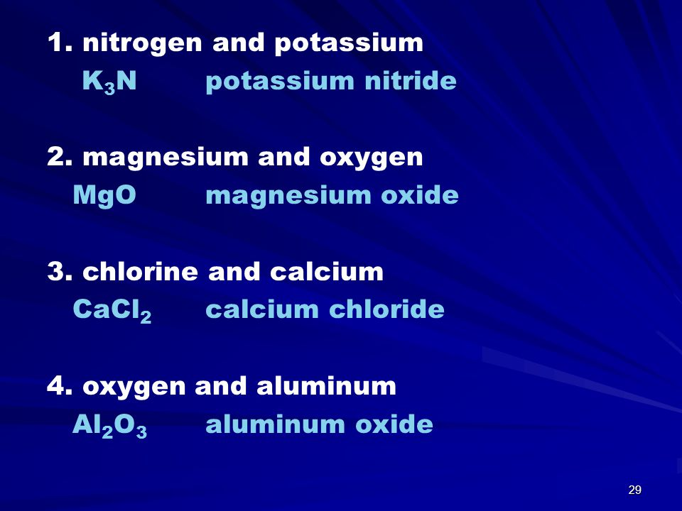1. nitrogen and potassium