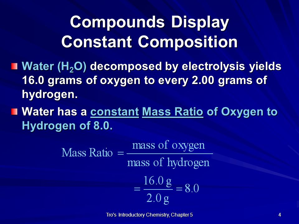 Compounds Display Constant Composition