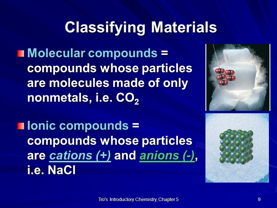 Classifying Materials