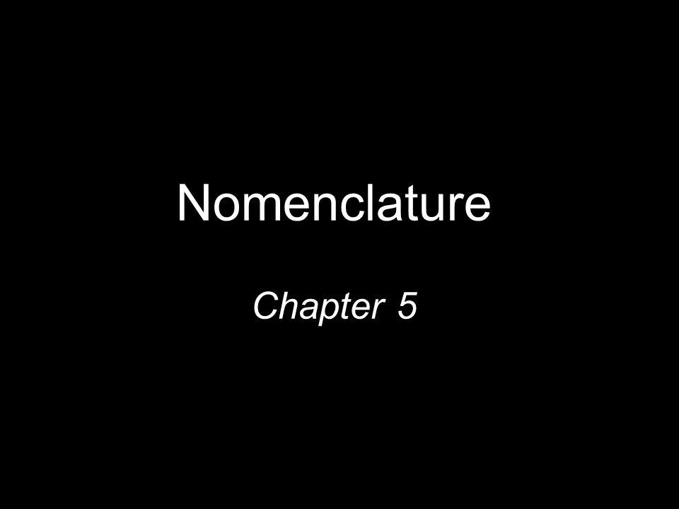 Nomenclature Chapter 5 1
