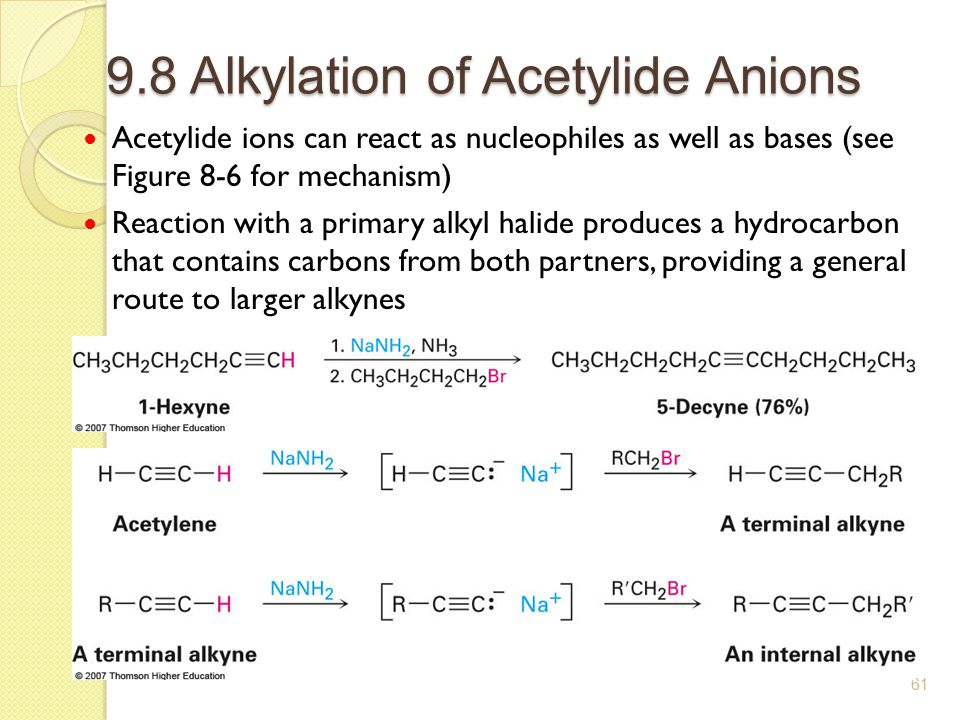 9.8 Alkylation of Acetylide Anions
