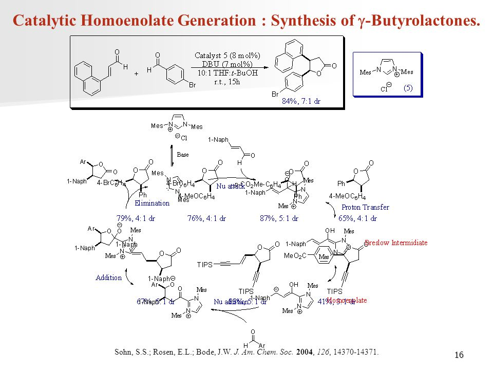 Catalytic Homoenolate Generation : Synthesis of g-Butyrolactones.
