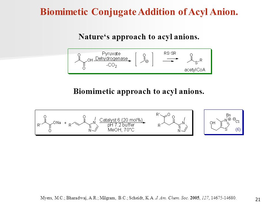 Biomimetic Conjugate Addition of Acyl Anion.