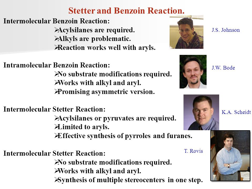 Stetter and Benzoin Reaction.