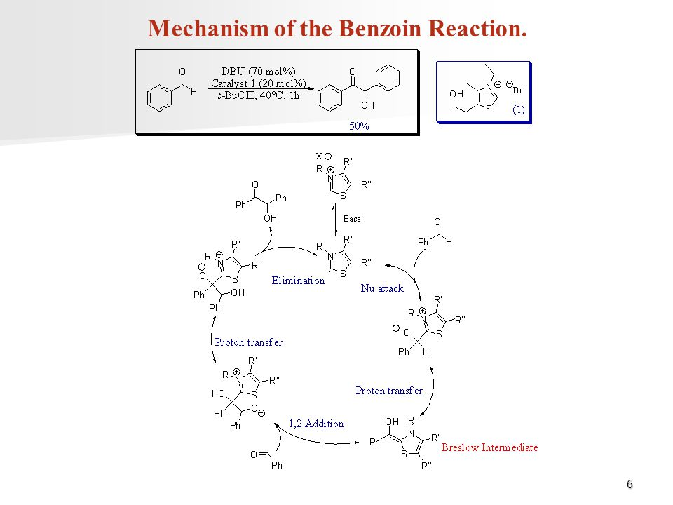 Mechanism of the Benzoin Reaction.