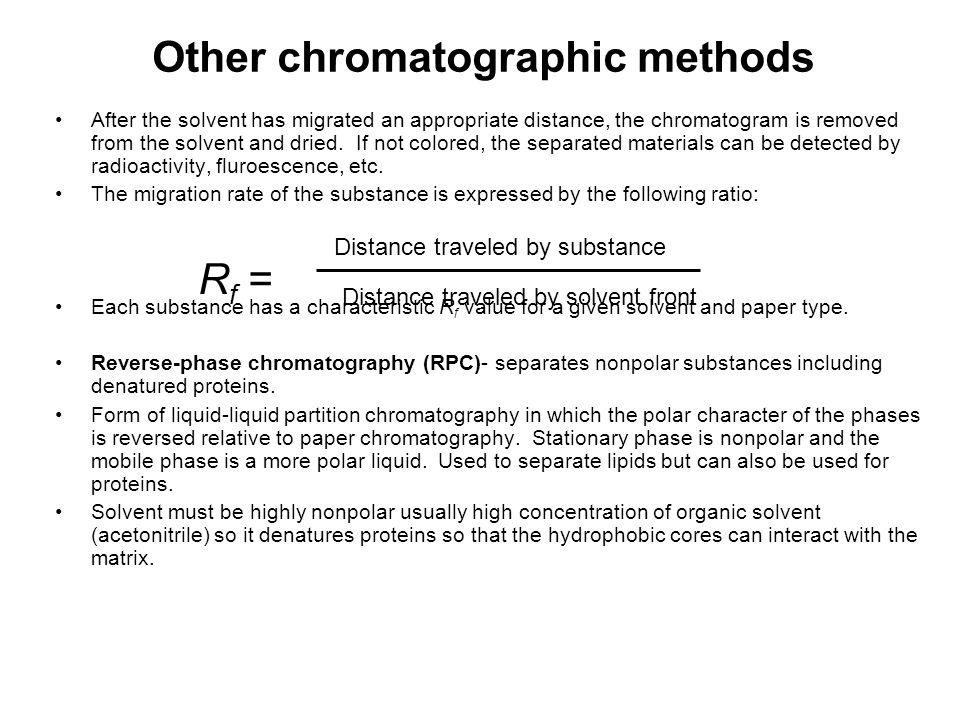 Other chromatographic methods