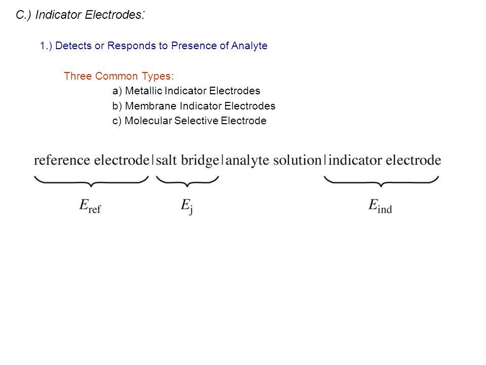 C.) Indicator Electrodes: