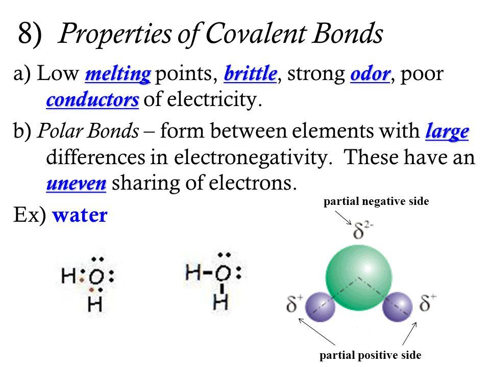 8) Properties of Covalent Bonds