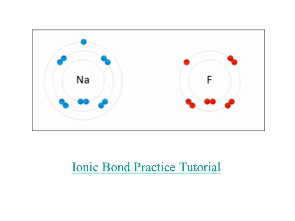 Ionic Bond Practice Tutorial