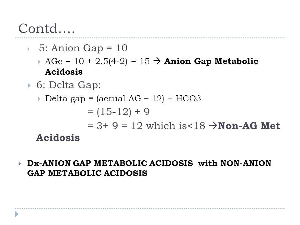 Contd…. 6: Delta Gap: = (15-12) + 9