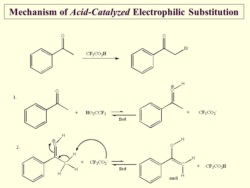 Mechanism of Acid-Catalyzed Electrophilic Substitution