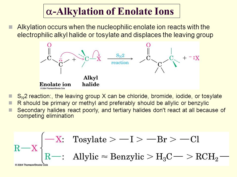 a-Alkylation of Enolate Ions