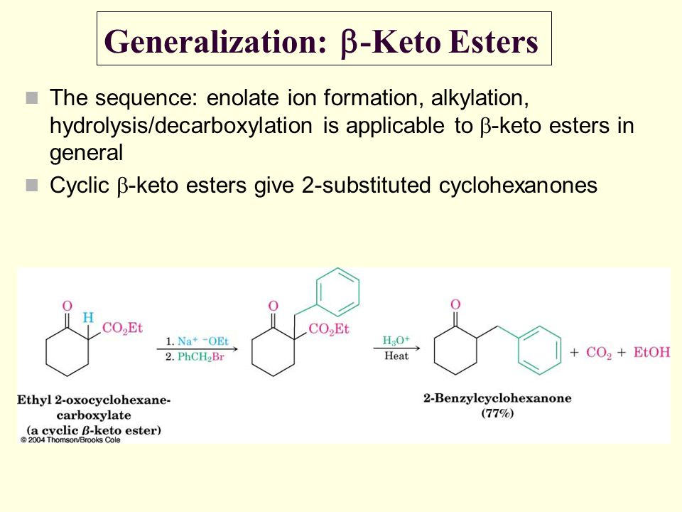Generalization: b-Keto Esters