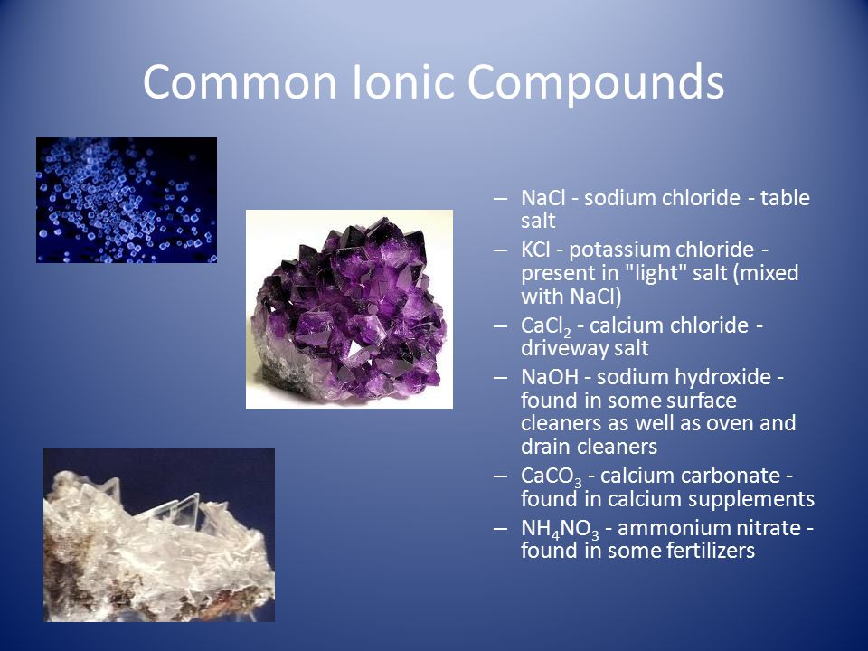 Common Ionic Compounds