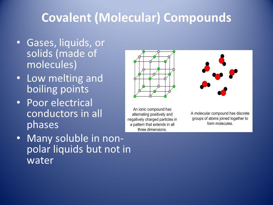 Covalent (Molecular) Compounds