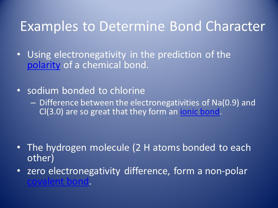 Examples to Determine Bond Character