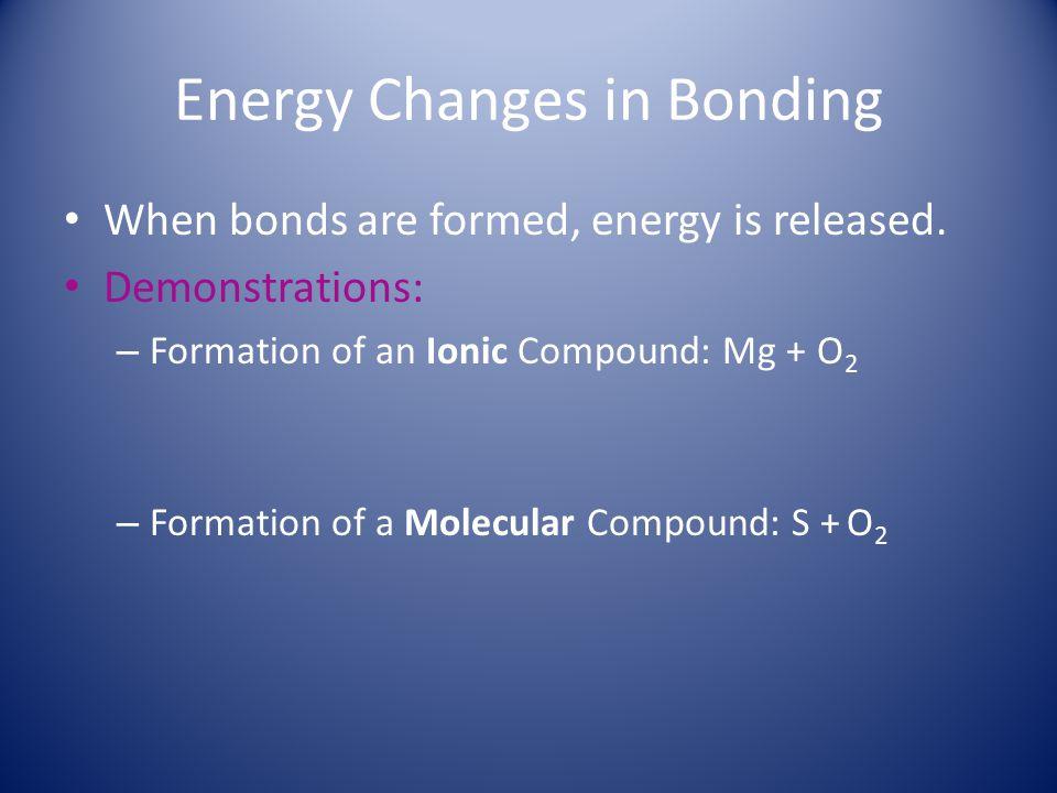 Energy Changes in Bonding