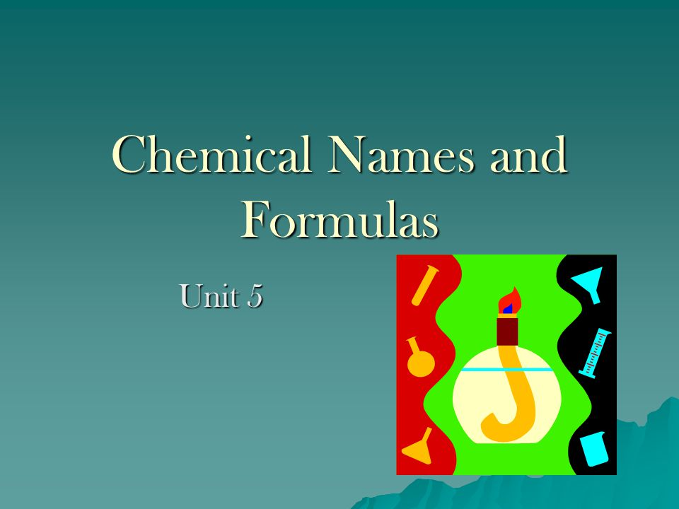 Chemical Names and Formulas
