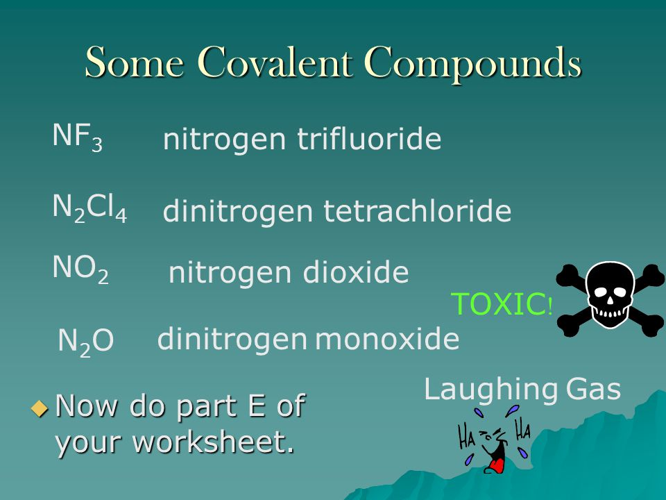 Some Covalent Compounds