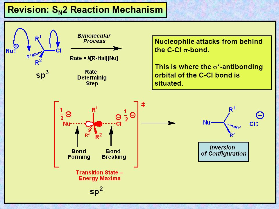 Revision: SN2 Reaction Mechanism