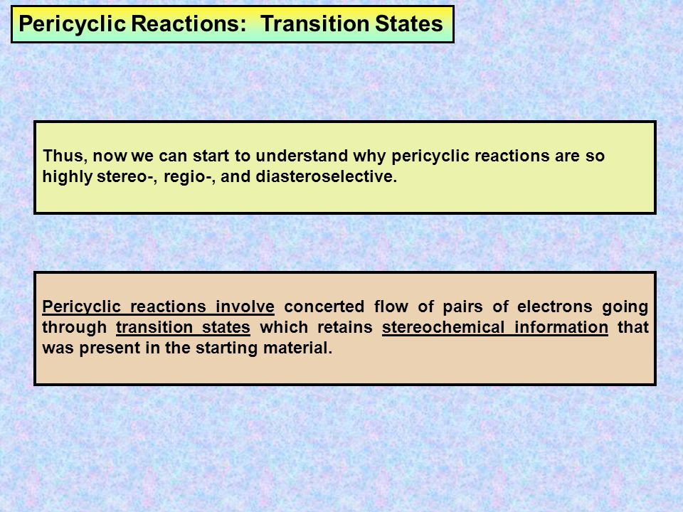 Pericyclic Reactions: Transition States