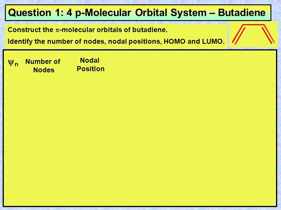 Question 1: 4 p-Molecular Orbital System – Butadiene