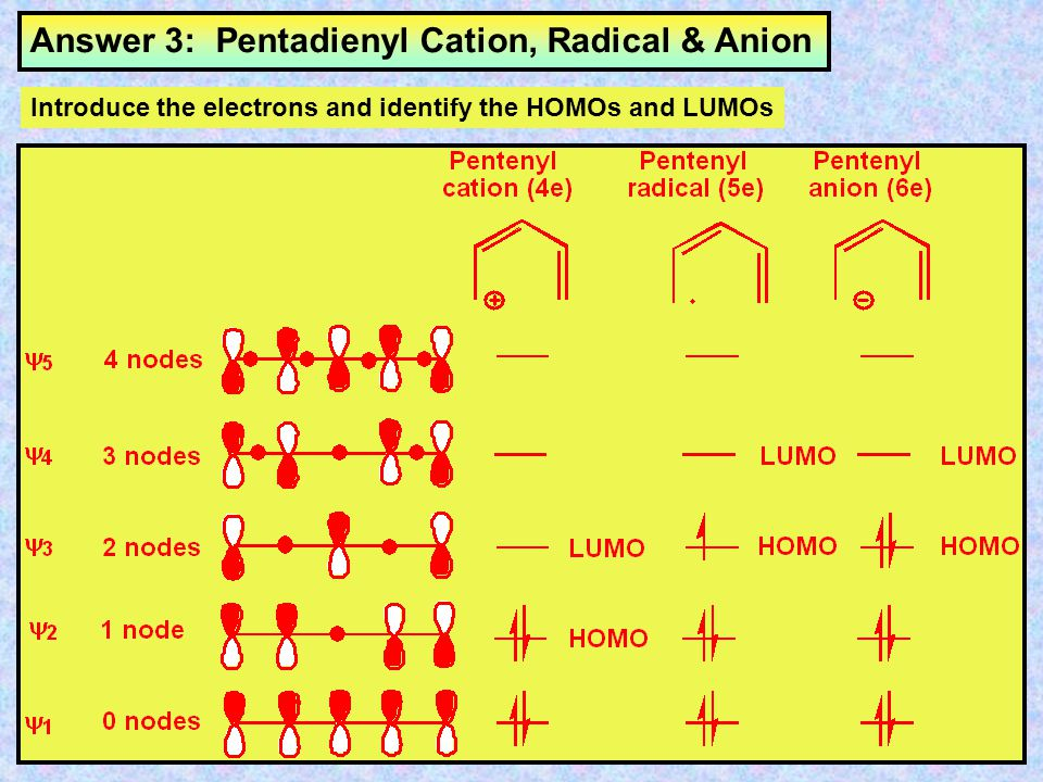 Answer 3: Pentadienyl Cation, Radical & Anion