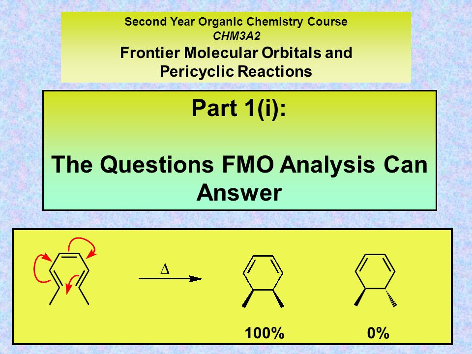 Part 1(i): The Questions FMO Analysis Can Answer