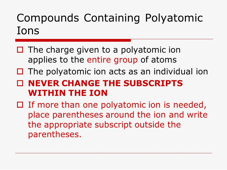 how to read polyatomic ions