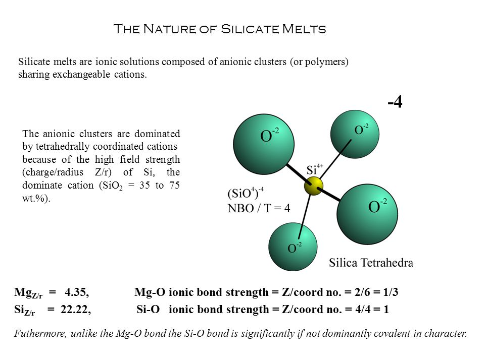 -4 The Nature of Silicate Melts