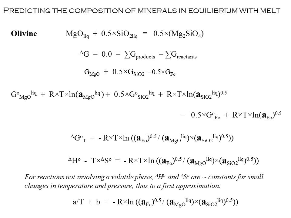 Predicting the composition of minerals in equilibrium with melt