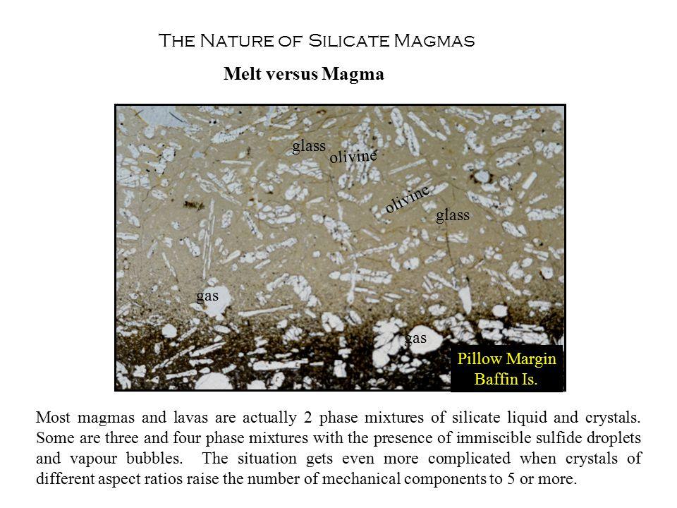 The Nature of Silicate Magmas