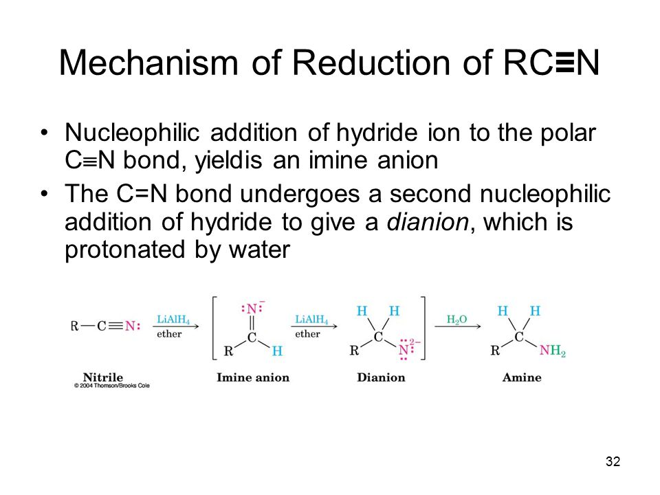 Mechanism of Reduction of RC≡N