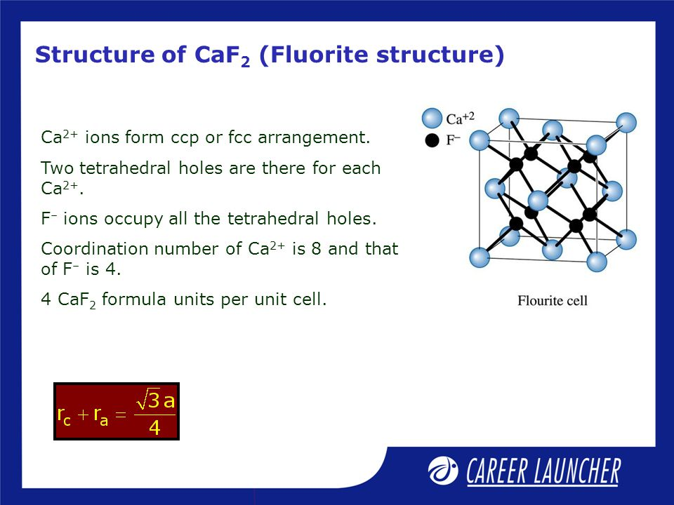 Structure of CaF2 (Fluorite structure)