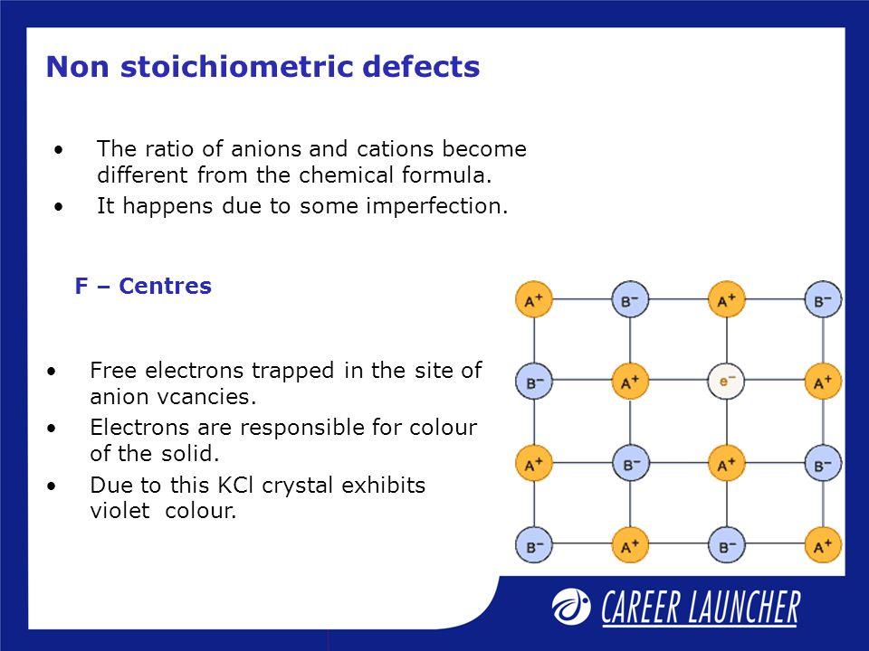 Non stoichiometric defects