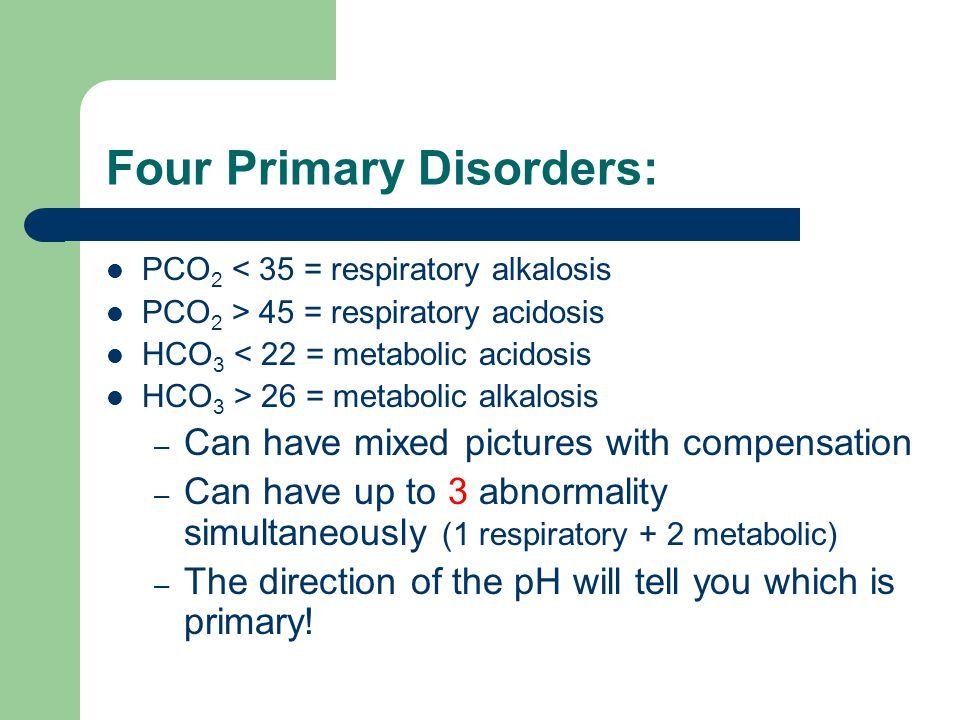Four Primary Disorders: